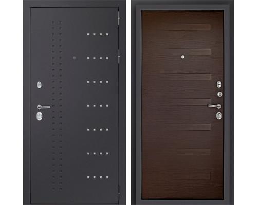 Входная металлическая дверь Дверной Континент Тренто 3К (Серый муар / Венге)