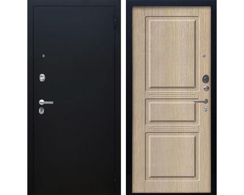 Входная металлическая дверь Аргус Люкс ПРО Сабина (Чёрный шелк / Капучино)
