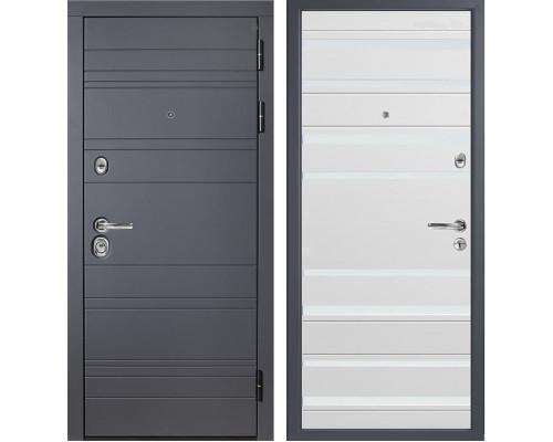 Входная металлическая дверь Персона ТехноЛюкс Стайл (Графит софт / Белый софт)