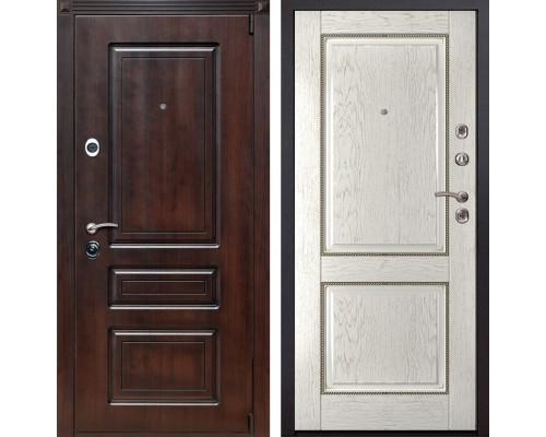 Входная металлическая дверь Неаполь 71 (Вишня тёмная / Капучино)
