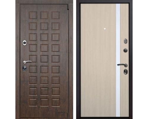 Входная металлическая дверь Верона Z6 (Тиковое дерево / Капучино)