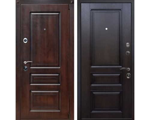 Входная металлическая дверь Неаполь (Вишня тёмная / Вишня тёмная)