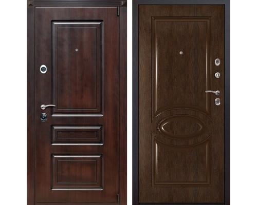 Входная металлическая дверь Неаполь 70 (Вишня тёмная / Каштан)