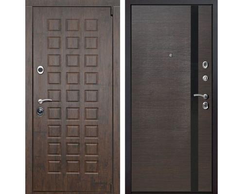 Входная металлическая дверь Верона Z6 (Тиковое дерево / Венге)