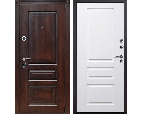 Входная металлическая дверь Неаполь Версаль (Тёмная вишня / Белый)