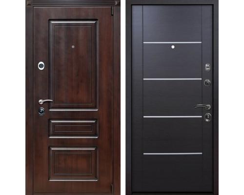 Входная металлическая дверь Неаполь Молдинг (Тёмная вишня / Венге)