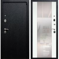 Входная дверь Армада 3 с Зеркалом СБ-16 (Черный крокодил / Белый ясень) Размер 96 петли справа