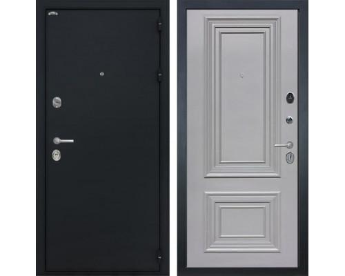 Входная стальная дверь Интекрон Греция Сан Ремо 2 (Чёрный шелк /  Пыльно-серый RAL 7037)