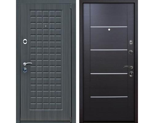 Входная металлическая дверь Мадрид Молдинг (Дуб серый / Венге)