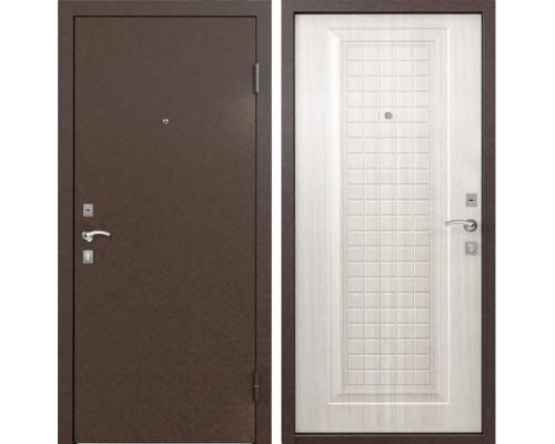 Входная металлическая дверь Бульдорс 10-С (Медный антик / Лиственница белая)