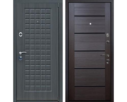 Входная металлическая дверь Мадрид X7 (Дуб серый / Венге Мелинга)