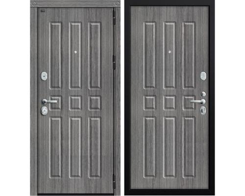 Дверь входная металлическая Groff P3-303 П-27 (Дуб серый / Дуб серый)