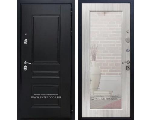Входная дверь Армада Премиум Н с зеркалом Пастораль (Венге / Сандал белый)