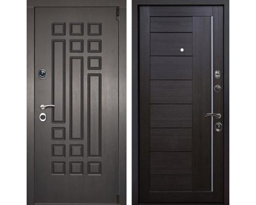 Входная металлическая дверь Милан X17 (Венге патина / Венге Мелинга)
