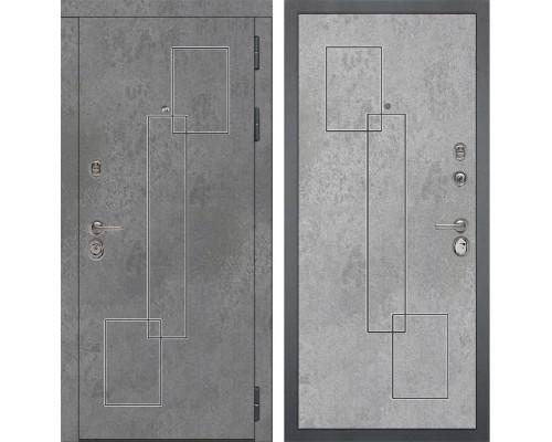 Входная металлическая дверь Дива МД-48 М-3 (Бетон Темный / Бетон Светлый)