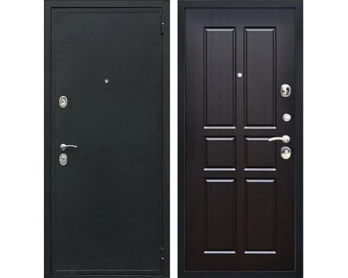 Входная металлическая дверь Персона Евро-2 Конструктор (Чёрный шёлк / Венге тёмный)