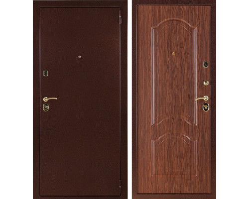 Входная стальная дверь Лайт 3К (Орех тисненый)