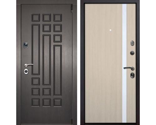 Входная металлическая дверь Милан Z6 (Венге патина / Капучино)