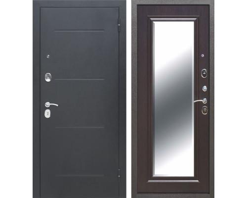 Входная металлическая дверь Гарда Зеркало (Антик Серебро / Венге)