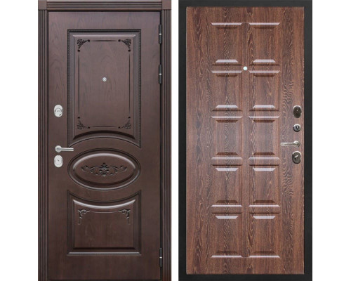 Входная металлическая дверь Сенатор Верона Т-13 (Дуб коньяк / Коньяк филадельфия)