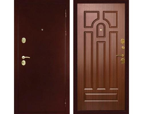 Входная металлическая дверь Дива МД-09 (Антик медный / Орех тиснёный)
