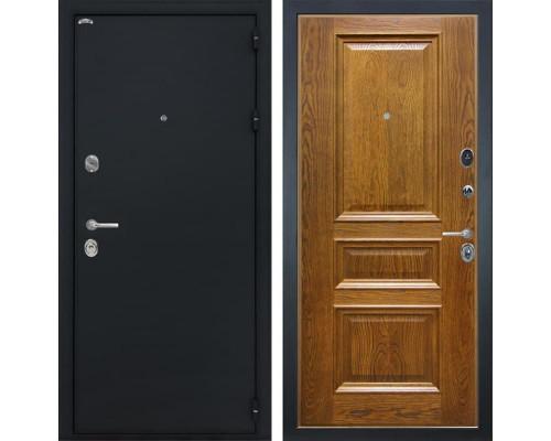 Входная стальная дверь Интекрон Греция Валентия-2 Шпон (Черный шелк / Дуб бренди)