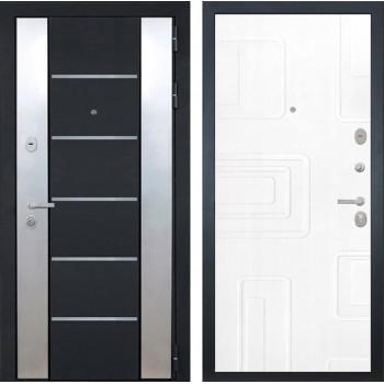 Входная металлическая дверь Интекрон Вельс Элит (Чёрный металлик / Роял Вуд белый)