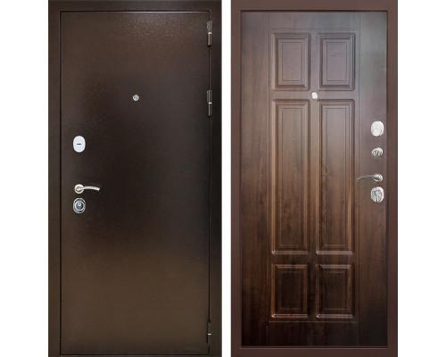 Входная металлическая дверь Снедо Т30 3К (Медный антик / Винорит Грецкий орех)