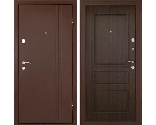 Входная металлическая дверь Континент Турин 3К (Медный антик / Орех)