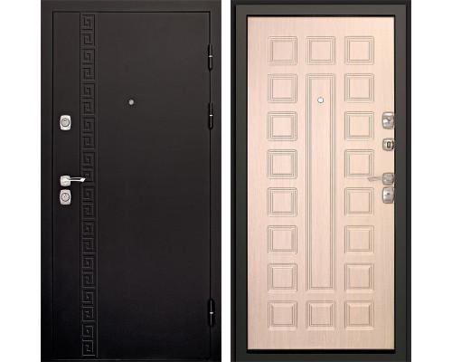 Входная металлическая дверь Дверной Континент Сити 3К (Чёрный графит / Дуб беленый)