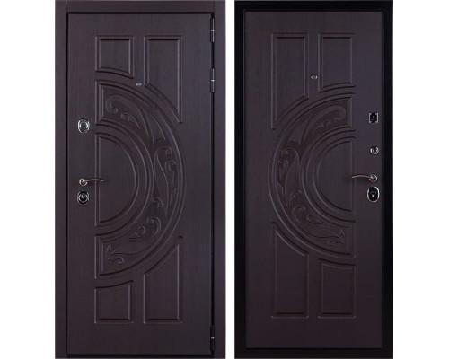 Входная стальная дверь Меркурий 3D с цилиндром Cisa (Венге / Венге)