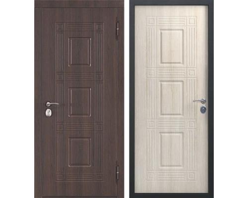 Входная металлическая дверь Виктория (Темный кипарис / Лиственница Мокко)