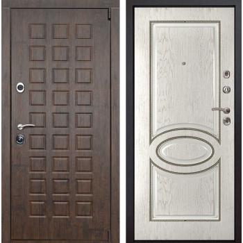Входная металлическая дверь Верона 70 (Тиковое дерево / Капучино)