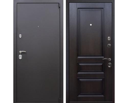 Входная металлическая дверь Квадро Неаполь (Искра коричневая / Вишня тёмная)
