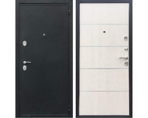 Входная металлическая дверь Персона Евро-2 Конструктор (Чёрный шёлк / Лиственница беж)