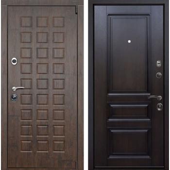 Входная металлическая дверь Верона Неаполь (Тиковое дерево / Темная вишня)