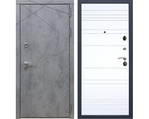 Входная металлическая дверь Армада 13 ФЛ-14 (Бетон тёмный / Белый софт)