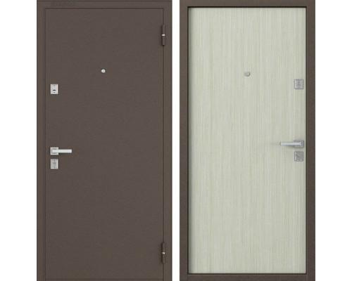 Входная металлическая дверь Бульдорс 12 (Медный антик / Дуб Беленый)