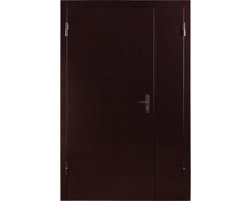 Тамбурная металлическая двухстворчатая дверь (Металл / Металл)