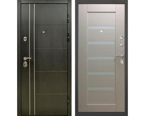 Входная металлическая дверь Снедо Техно 01 3К (Венге винорит / Белый венге)
