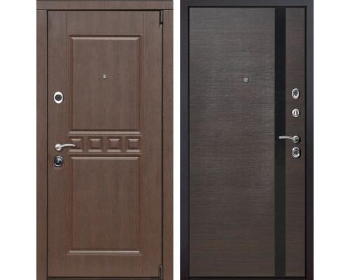 Входная металлическая дверь Сарбона Z6 (Орех патина / Венге)
