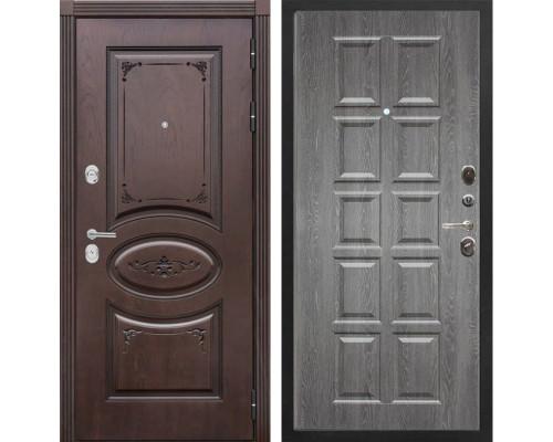 Входная металлическая дверь Сенатор Верона Т-13 (Дуб коньяк / Графит)