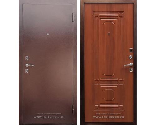 Входная металлическая дверь Армада 1 (Антик медь / Итальянский орех)