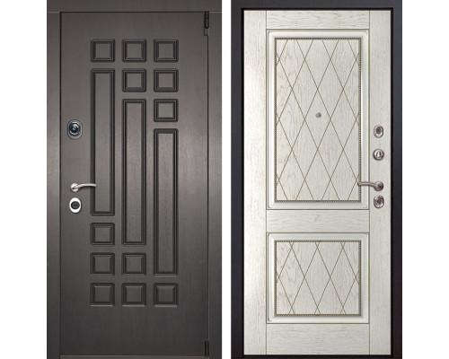 Входная металлическая дверь Милан 72 (Венге патина / Капучино)