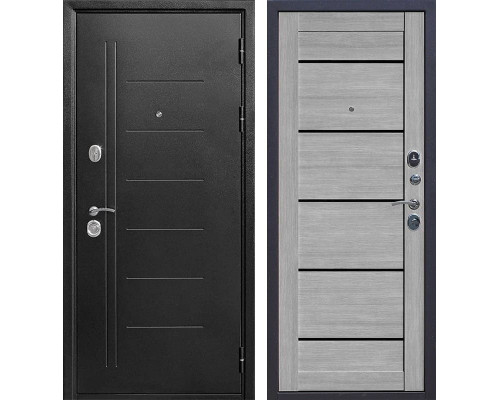 Входная дверь Троя (Антик темное Серебро / Дуб дымчатый)