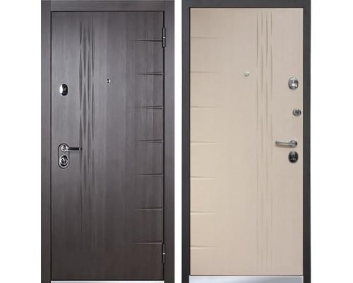 Входная металлическая дверь Бульдорс 45 (Ларче темный / Шамбори светлый)
