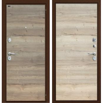 Дверь входная металлическая Groff T3-300 (Tobacco Oak / Natural Oak)