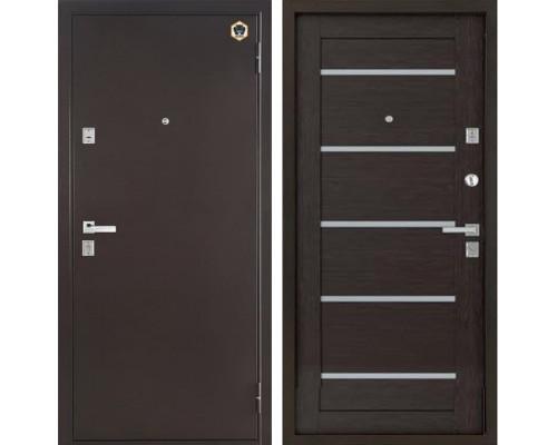 Входная металлическая дверь Бульдорс 13-Р Е-3 (Медный антик / Венге)