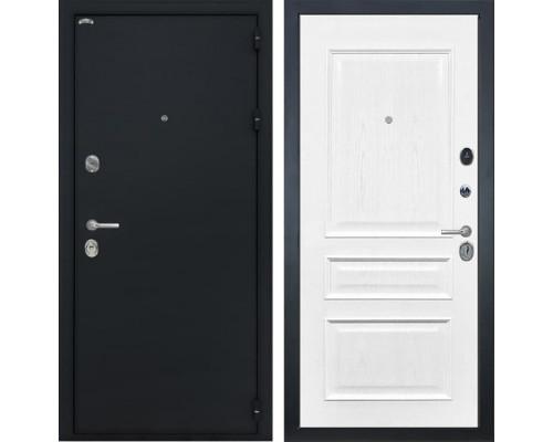 Входная стальная дверь Интекрон Греция Валентия-2 Шпон (Черный шелк / Ясень жемчуг)