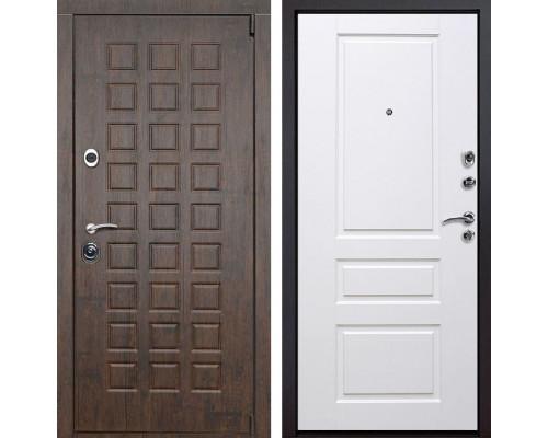 Входная металлическая дверь Верона Версаль (Тиковое дерево / Белый)